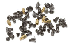 Metallic screws Stock Image