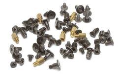 Metallic screws stock image