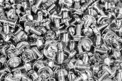 Metallic set screws and bolts for craftsman tools in industry Stock Photography
