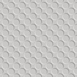 Metallic shadowed circle pattern. Abstract seamless texture; vector art illustration Royalty Free Stock Photo