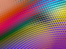 Metallic Sheen Screen. Rendering of section of metallic three dimensional circular mesh suitable as a background screen Royalty Free Stock Photo