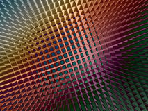 Metallic Sheen Screen. Rendering of section of metallic three dimensional circular mesh suitable as a background screen Stock Photography