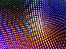 Metallic Sheen Screen. Rendering of section of metallic three dimensional circular mesh suitable as a background screen Stock Photos