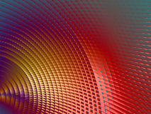 Metallic Sheen Screen. Rendering of section of metallic three dimensional circular mesh suitable as a background screen Royalty Free Stock Image