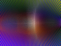 Metallic Sheen Screen. Rendering of section of metallic three dimensional circular mesh suitable as a background screen Stock Images