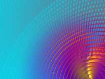 Metallic Sheen Screen. Rendering of section of metallic three dimensional circular mesh suitable as a background screen Stock Image