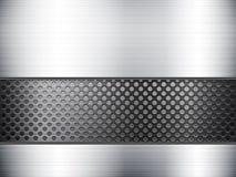 Metallic sheet and grid Stock Photo