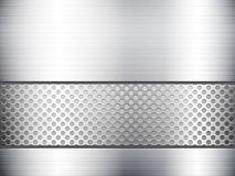 Metallic sheet and grid Stock Image
