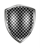 Metallic shield in black and white design Royalty Free Stock Images