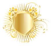 Metallic shield emblem Royalty Free Stock Image