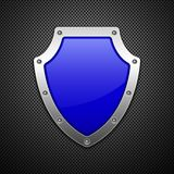 Metallic shield. Vector illustration. Royalty Free Stock Images