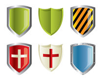 Metallic shields Stock Photos