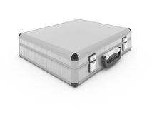 Metallic silver briefcase Royalty Free Stock Photography