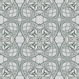 Metallic Silver Christmas Seamless Pattern for various design an Royalty Free Stock Photography