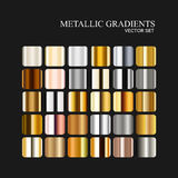 Metallic silver, golden and bronze gradient collection. Royalty Free Stock Photo