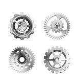 Metallic Silver Industrial Gears - 1 Royalty Free Stock Photos