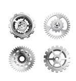 Metallic Silver Industrial Gears - 1 Royalty Free Stock Photos