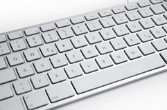 Metallic silver keyboard Stock Images