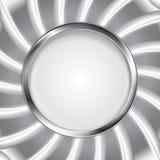 Metallic silver logo background. Vector design Stock Photos