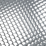 Metallic silver scales background 3d Royalty Free Stock Image