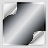 Metallic silver sticker Stock Photography