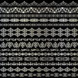 Metallic silver stripe ornate borders. Metallic silver stripe ornate border patterns Royalty Free Stock Photo