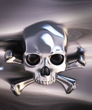 Metallic skull and crossbones Stock Photos