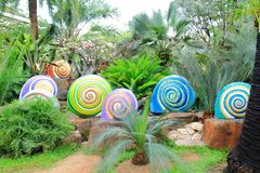Metallic snails statue Royalty Free Stock Image