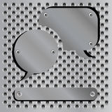 Metallic speech bubble icons Royalty Free Stock Image