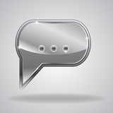 Metallic speech bubble Royalty Free Stock Photography