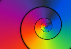 Metallic Spiral. Shiny metallic rainbow colored spiral Royalty Free Stock Images