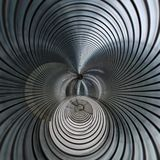 Metallic spiral futuristic abstract Royalty Free Stock Image