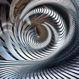 Metallic spiral futuristic abstract. In silver and blue royalty free illustration