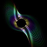 Metallic spiral twist. Abstract fractal image resembling a metallic spiral twist Stock Image