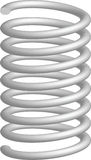 Metallic springs Stock Image