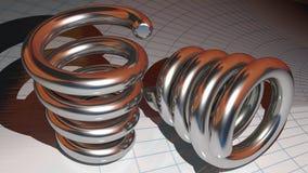 Metallic springs Stock Photography