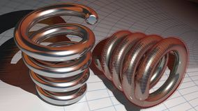 Metallic springs Royalty Free Stock Photography