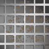 Metallic square fence background. Stock Photography