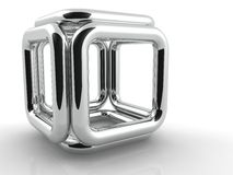 Metallic square Stock Photography