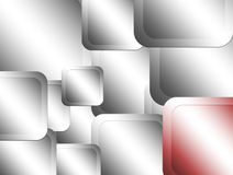 Metallic squares. Many squares  with  red and chrome  colors Royalty Free Stock Photo