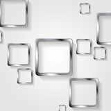 Metallic squares on white background Royalty Free Stock Photos