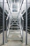 Metallic stair Stock Image