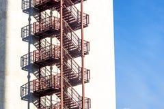 Metallic stairs Stock Photo