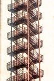 Metallic stairs Stock Image