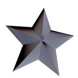 Metallic star Stock Photo