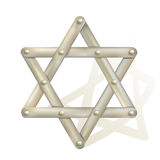 Metallic star of David Royalty Free Stock Photos