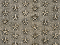Metallic star relief pattern texture Royalty Free Stock Image