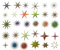 Metallic Stars royalty free stock photos