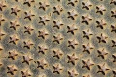 Metallic stars texture Stock Image