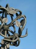 Metallic statue. Abstract metallic statue (from soviet times Stock Photo